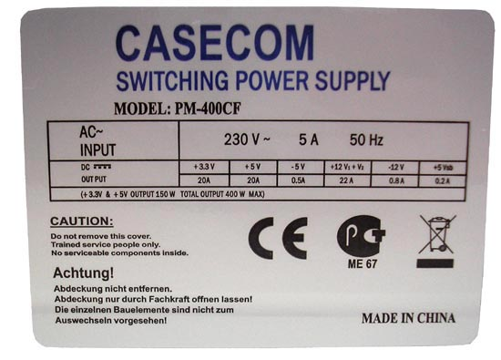 Casecom pm 400cf схема