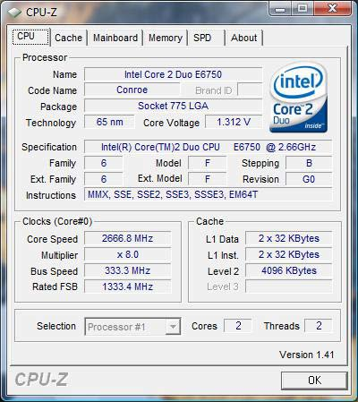 DRIVERS: INTEL R CORE TM 2 DUO CPU E6750