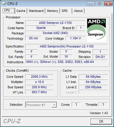 AMD SEMPRON TM PROCESSOR LE-1150 64BIT DRIVER