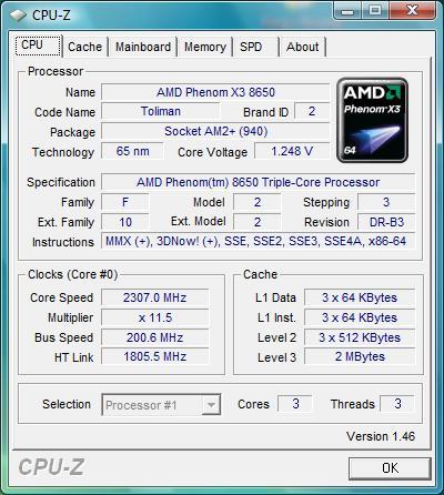 AMD PHENOM 8650 TRIPLE-CORE PROCESSOR DRIVER DOWNLOAD