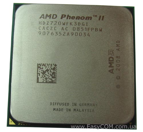 GECID AMD Phenom II X3 720 Black