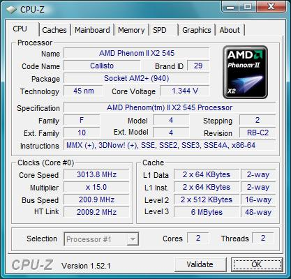 AMD Phenom II X2 545