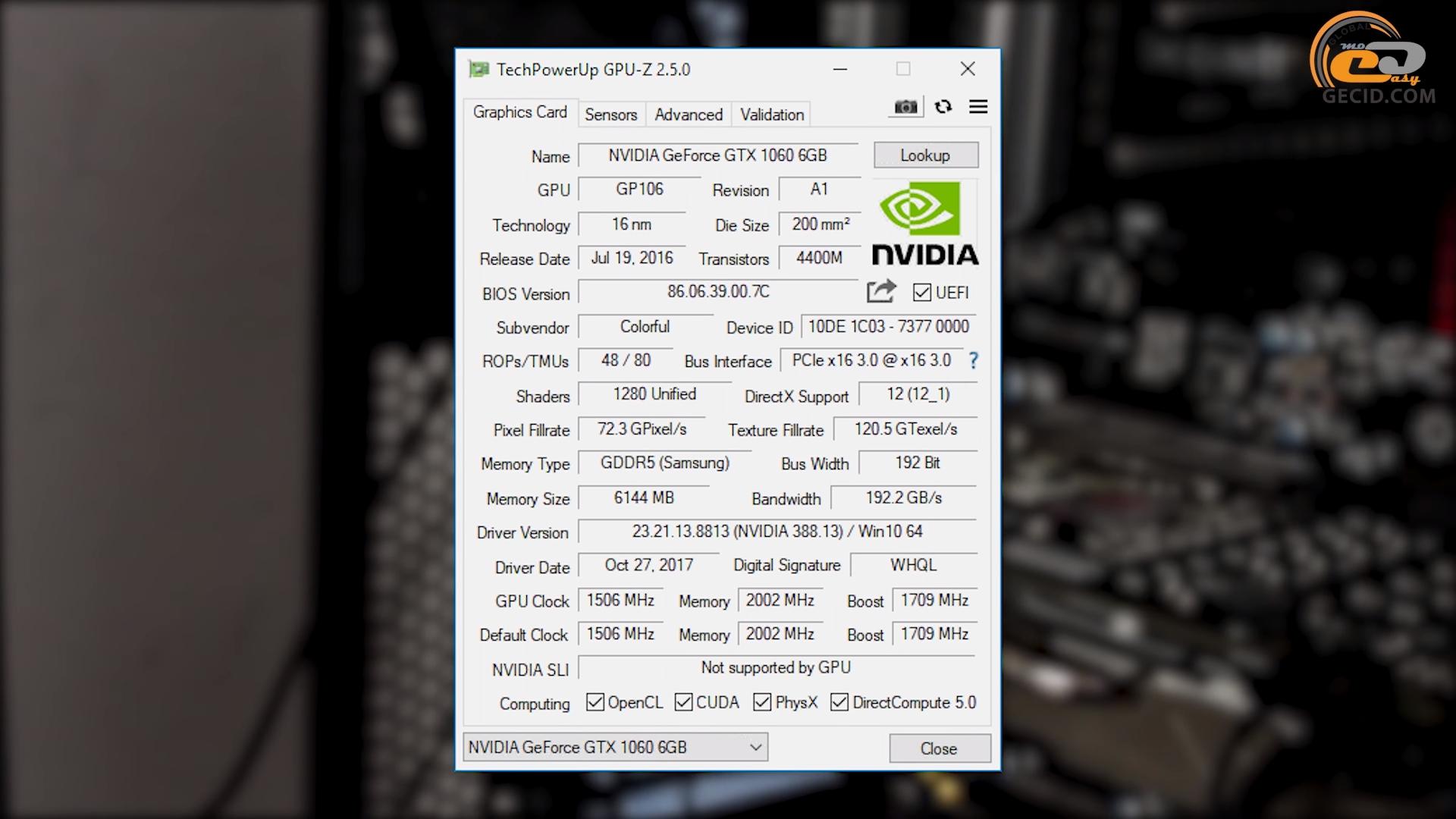 Разгон AMD Ryzen 5 1400 в системе с GeForce GTX 1060 6GB