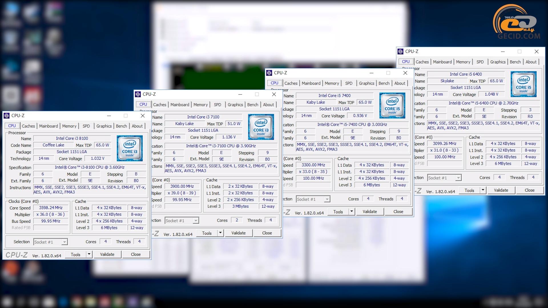 Сравнение Intel Core i3-8100 c Intel Core i5-7400, Intel