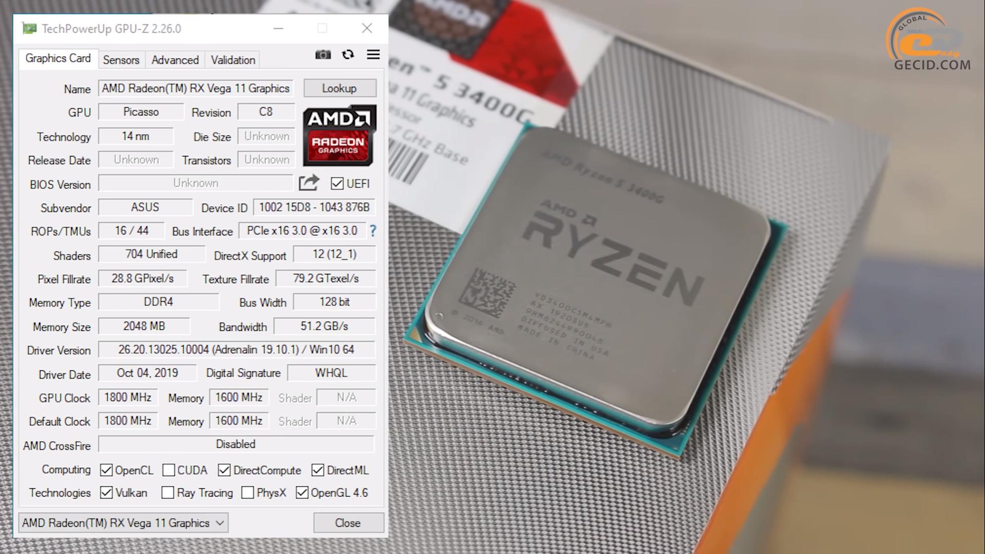 Radeon Vega Graphics Amd Ryzen 5