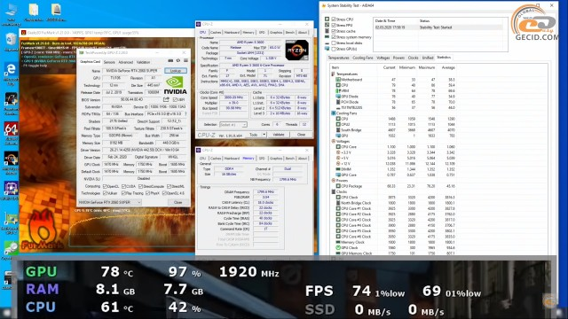 Ryzen 5 3600 GeForce RTX 2060 SUPER