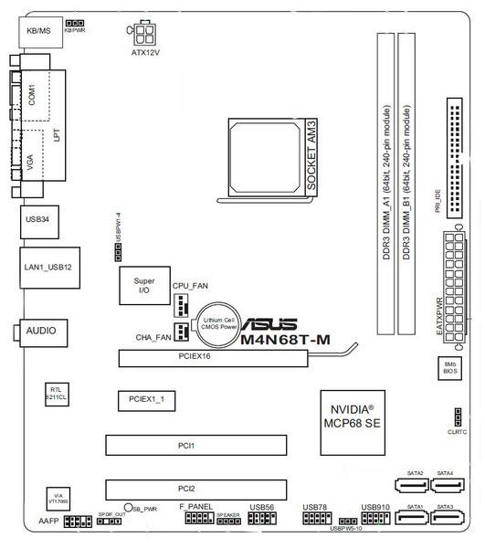ASUS M4N68T-M