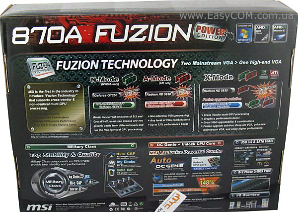 MSI 870A FUZION Power Edition