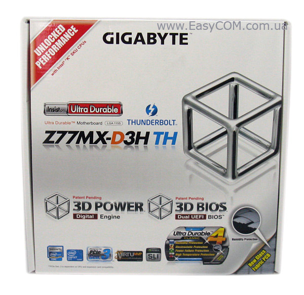 GIGABYTE GA-Z77MX-D3H TH box