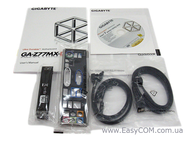 GIGABYTE GA-Z77MX-D3H TH packaging arrangement