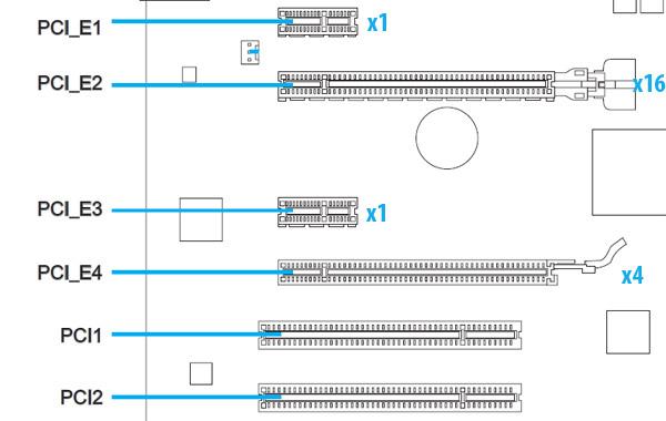 двух слотов PCI-Express