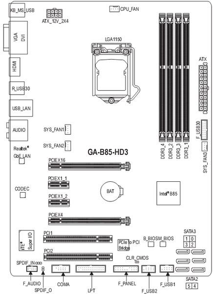 GIGABYTE GA-B85-HD3