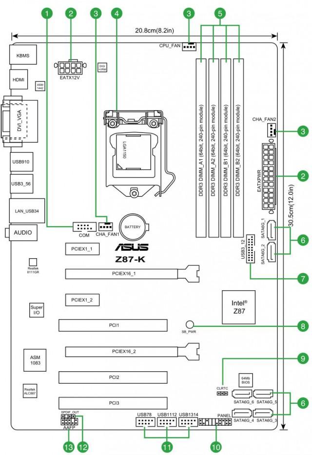 Asus Z87 K инструкция - фото 9