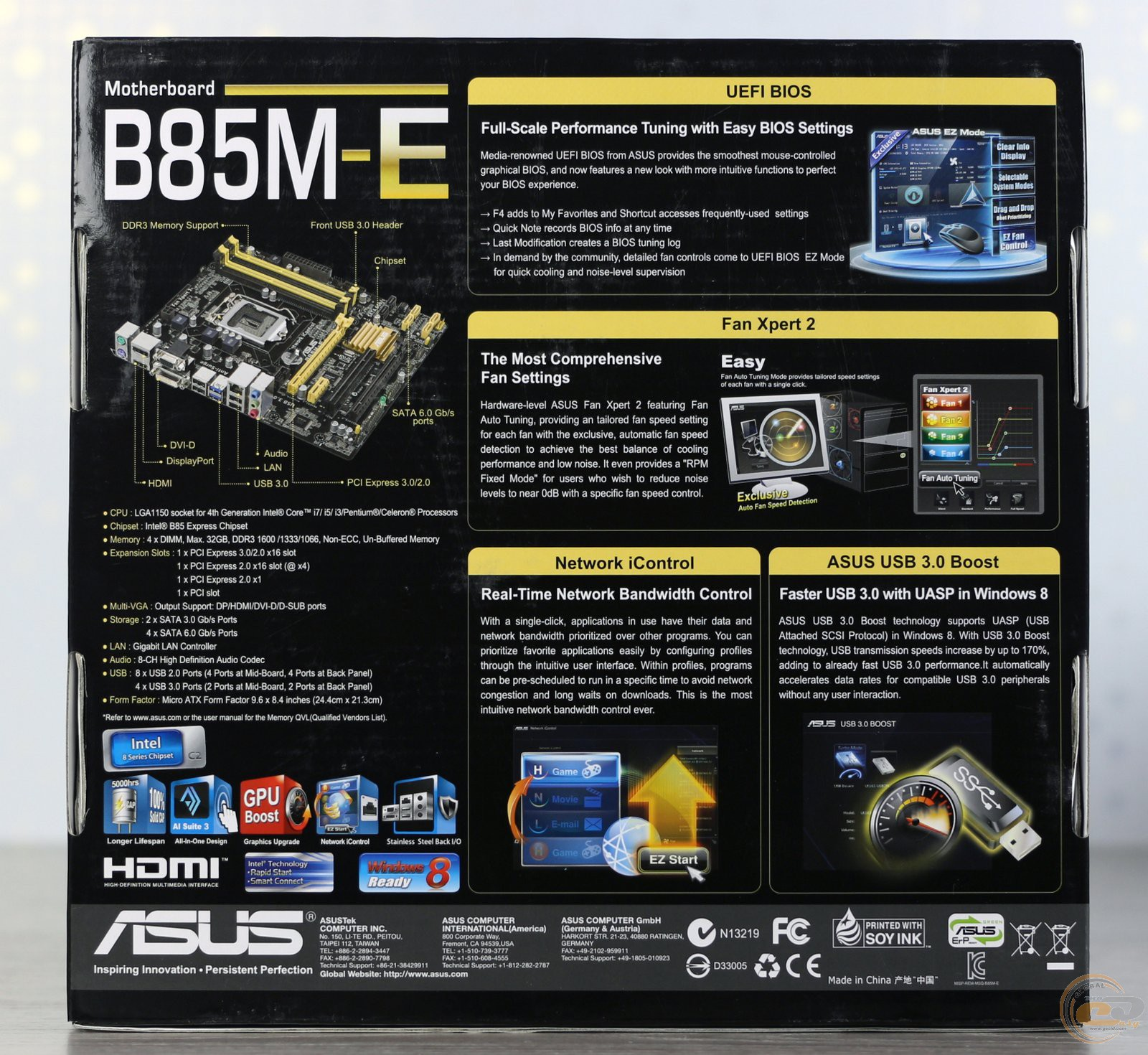 asus b85m-e инструкция на русском