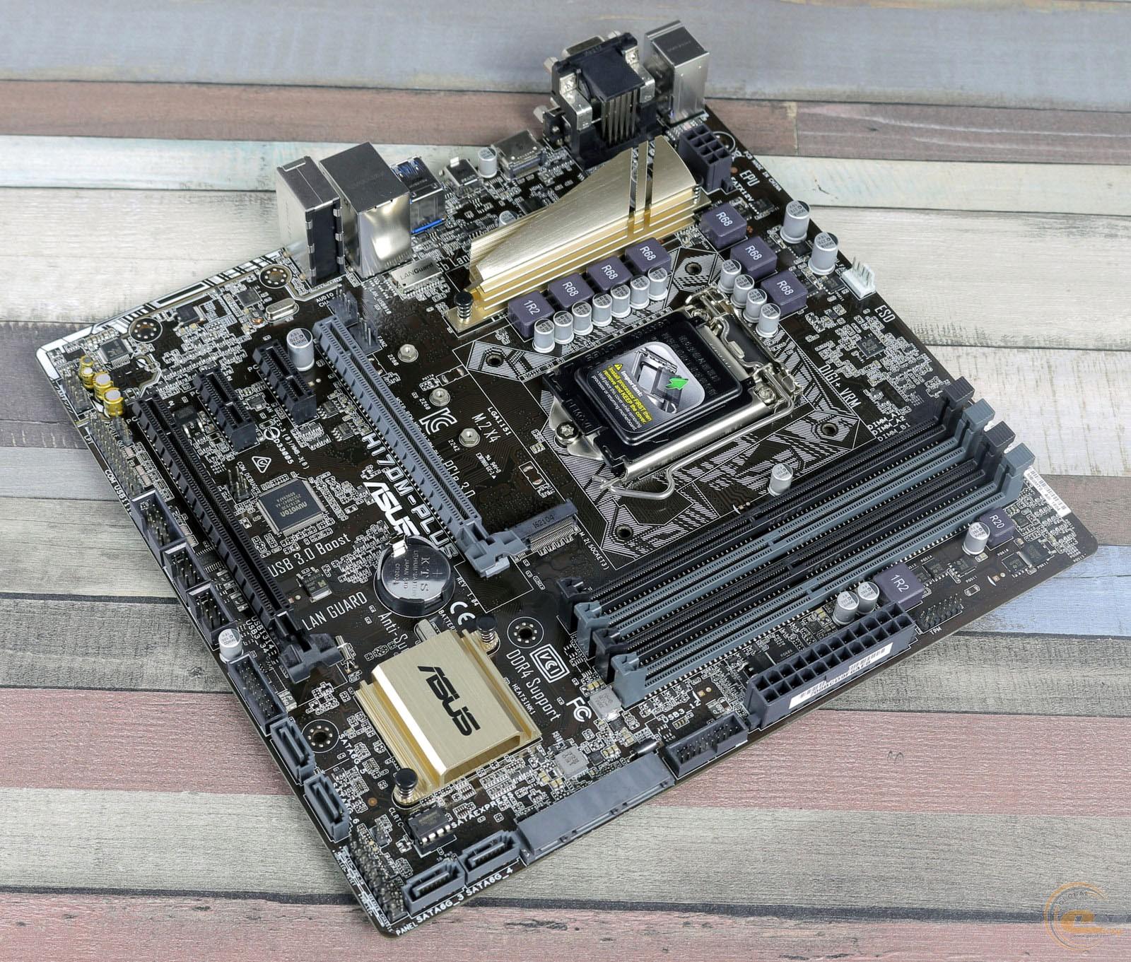 Asus H170m Plus 1 Motherboard E D3 Socket 1151 Lga Chipset Intel H170
