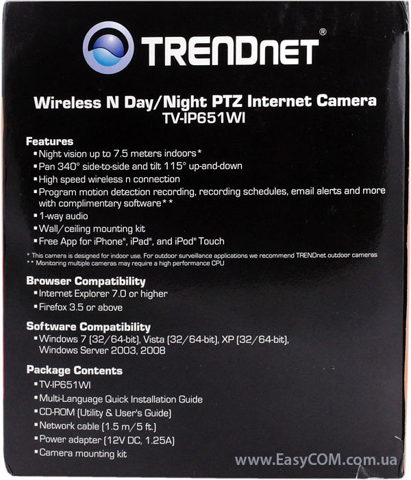 TRENDnet TV-IP651WI