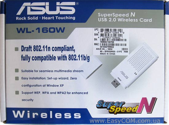 ASUS WL-160W DRIVER FOR WINDOWS