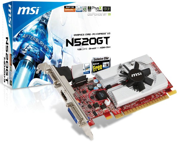 MSI N520GT-MD1GD3/LP
