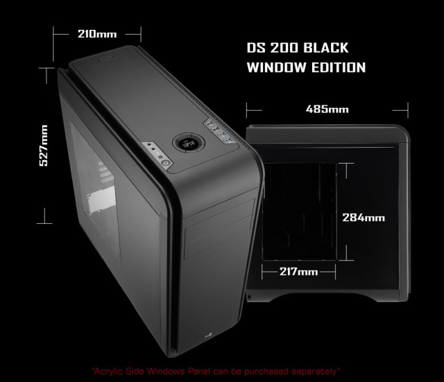 AeroCool DS200 Black Window Edition
