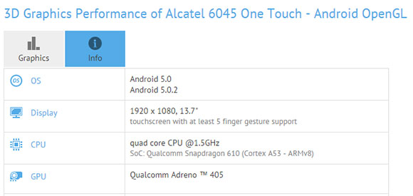 ALCATEL ONETOUCH 6045