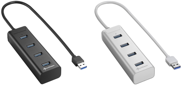Sharkoon 4-Port USB 3.0 Aluminium Hub