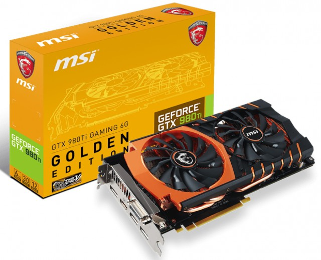 MSI GTX 980Ti GAMING 6G Golden Edition
