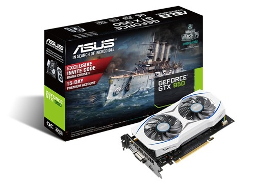 ASUS GeForce GTX 950 GTX950-OC-2GD5
