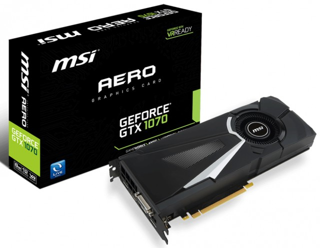 MSI GeForce GTX 1070 AERO 8G