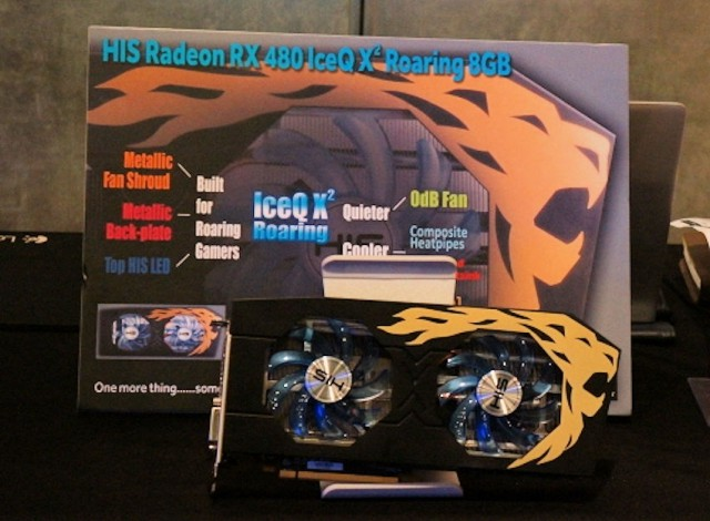 HIS Radeon RX 480 IceQX2 Roaring 8GB