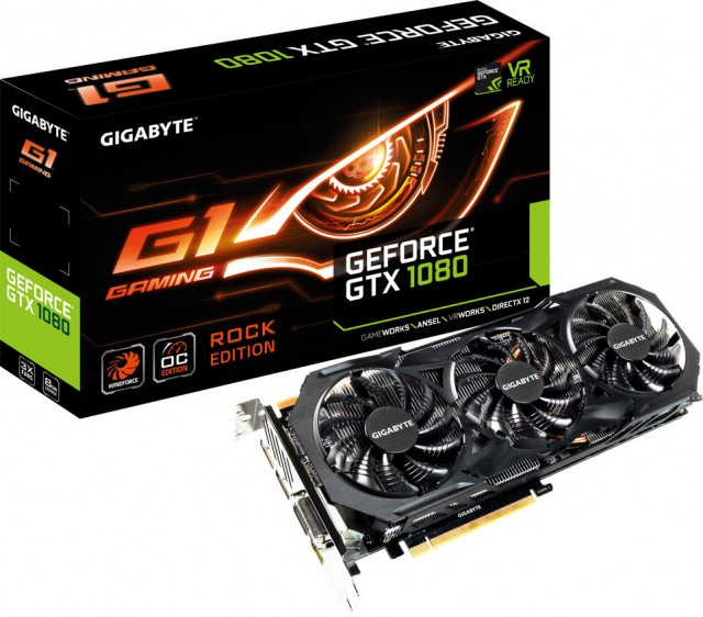 GIGABYTE GeForce GTX 1080 G1 ROCK 8G