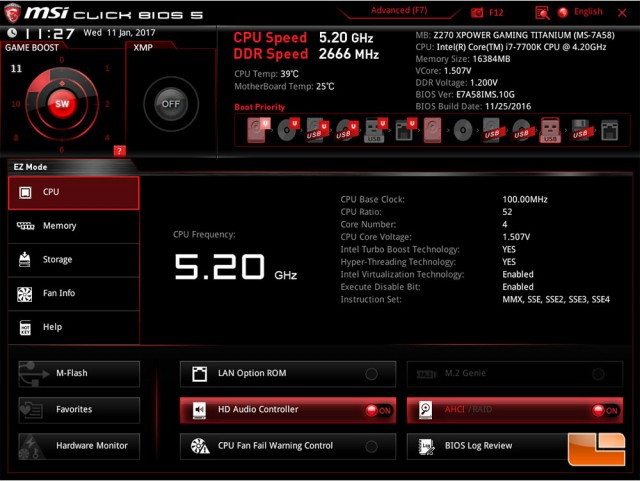 MSI Game Boost