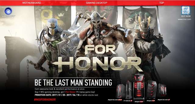MSI For Honor