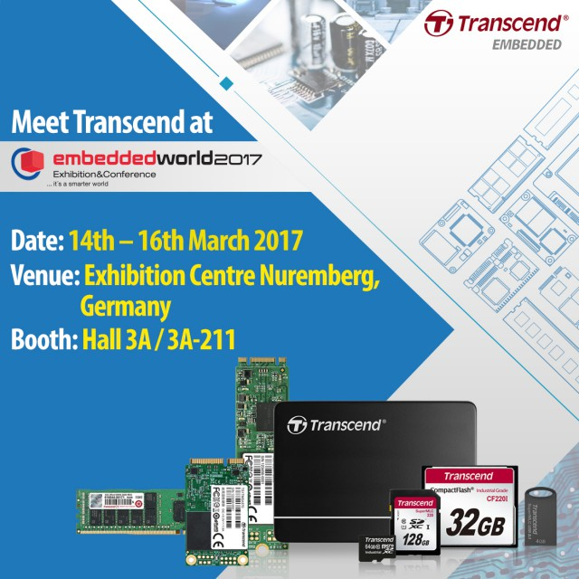 Transcend Embedded World 2017