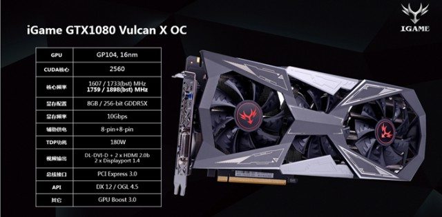 COLORFUL iGame GeForce GTX 1080 Vulcan X OC