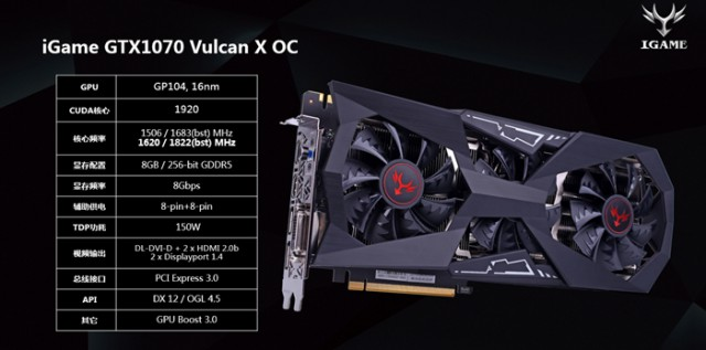 COLORFUL iGame GeForce GTX 1070 Vulcan X OC