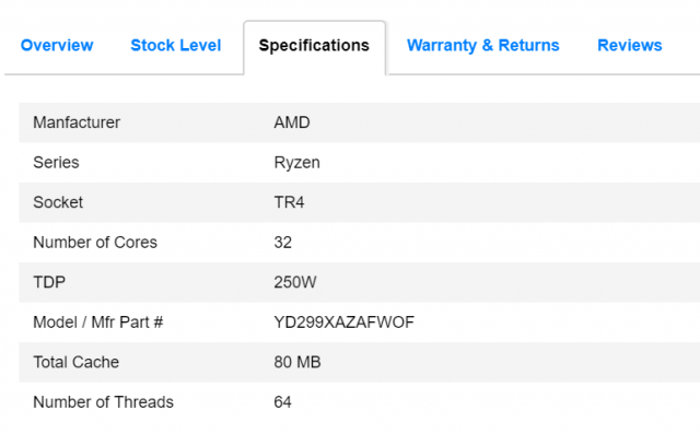 AMD Ryzen Threadripper 2990X