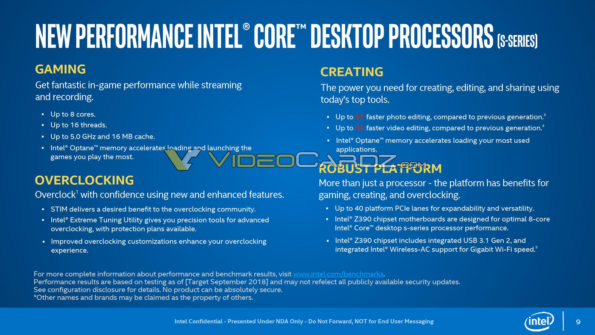 Некоторые процессоры Intel Coffee Lake Refresh точно получат