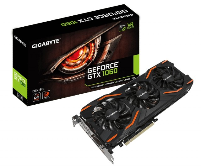 GIGABYTE GeForce GTX 1060 WINDFORCE OC D5X 6G