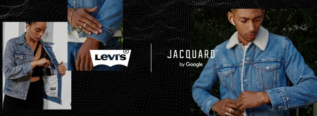 Levis Trucker Jacket with Jacquard