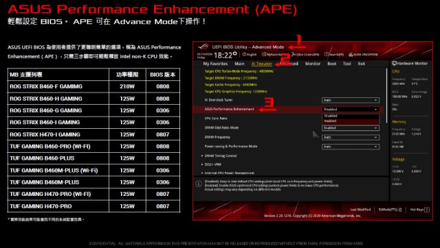 ASUS APE MSI Power Limit Setting