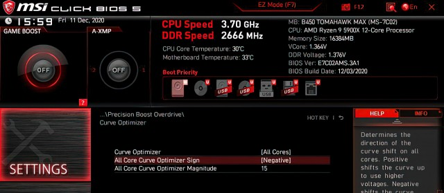 AMD Curve Optimizer