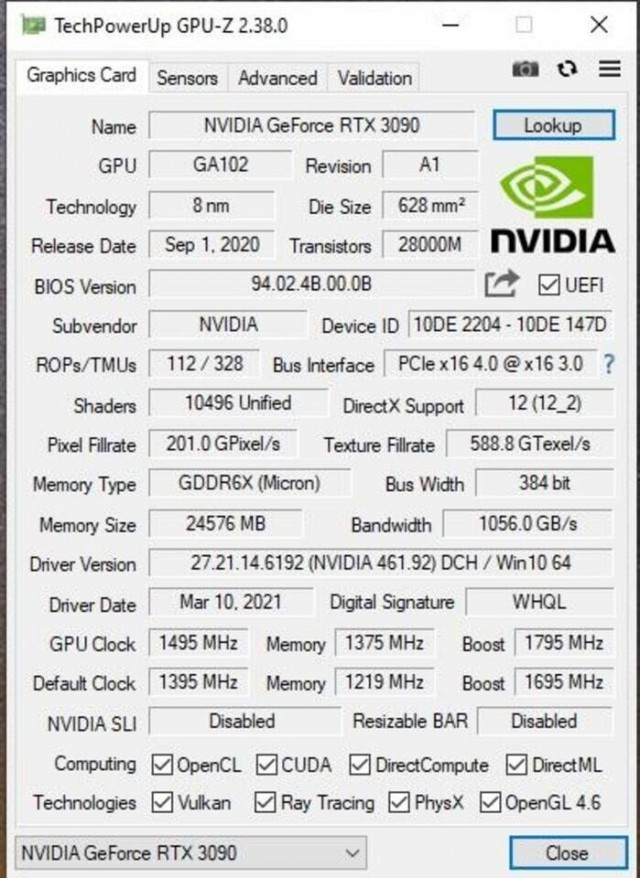 NVIDIA GeForce RTX 3080 Ti