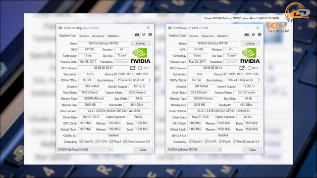 NVIDIA GeForce MX250