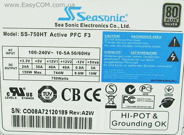 Seasonic SS-750HT Active PFC