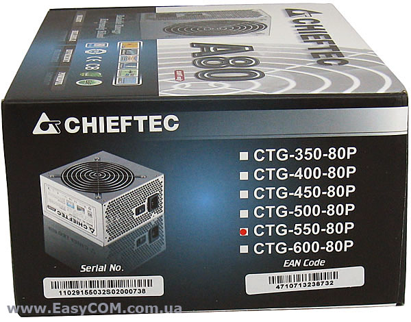CHIEFTEC CTG-550-80P