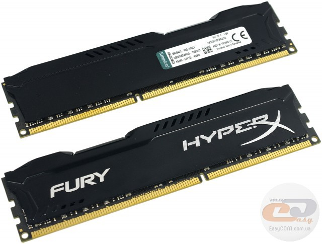DDR3-1866 Kingston HyperX FURY HX318C10FBK2/16