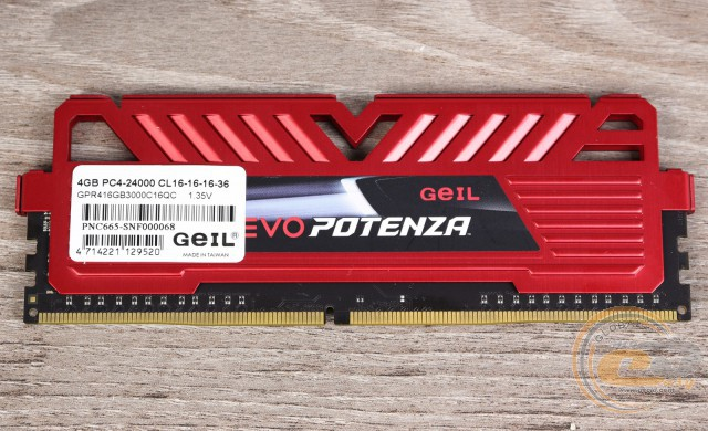 GeIL DDR4 EVO POTENZA QUAD CHANNEL GPR416GB3000C16QC