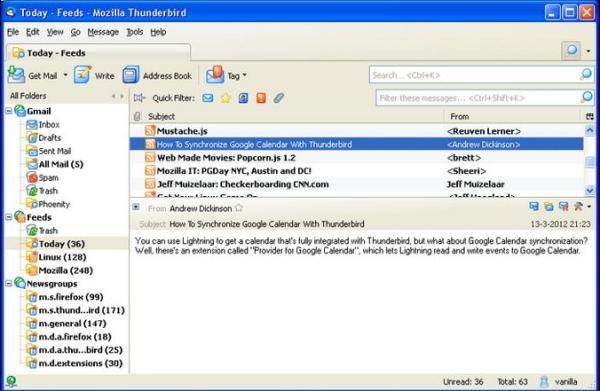 Как сделать переадресацию почты в thunderbird