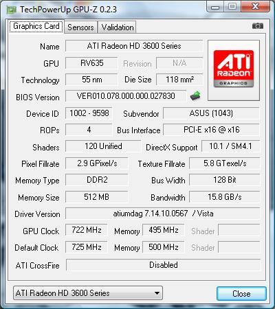 ASUS EAH3650 SERIES DRIVER PC