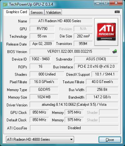 Asus EAH4890 series Driver UPDATE